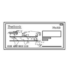 Bank check icon line design vector