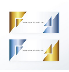 Banner abstract gold and blue vector