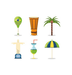 Brazil related icons vector