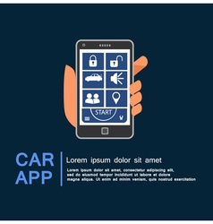 Car security system phone app vector
