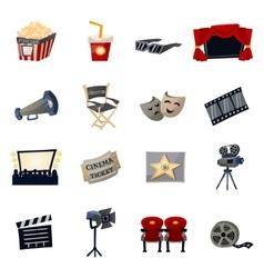 Cinema Icons Flat vector image