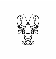 Crayfish icon outline style vector