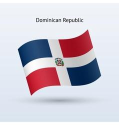 Dominican republic flag waving form vector