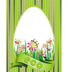 eco design illustration vector image vector image