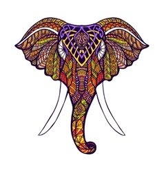 Elephant Head Colored vector image