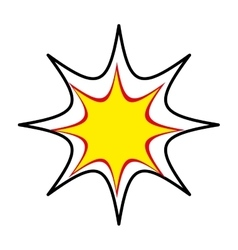 expression pop art icon vector image vector image