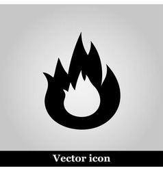 Flat Bonfire icon on grey background vector image vector image
