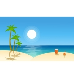 flat landscape beach collection vector image vector image