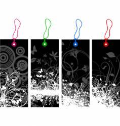 Floral grunge labels vector