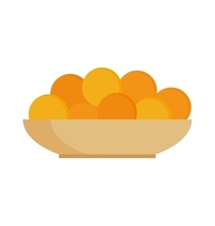Fresh fruit citrus oranges on plate dinner vitamin vector image vector image