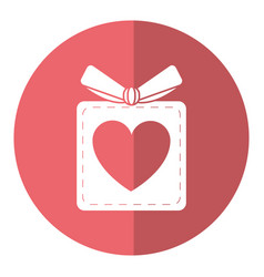 gift box heart love present shadow vector image vector image