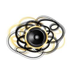 golden speaker vector image