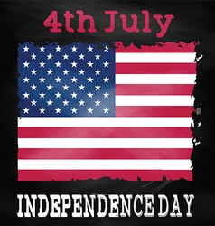 Grunge 4th July background vector image