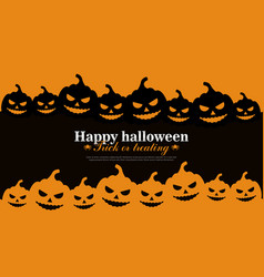 halloween background with pumpkins for banner vector image