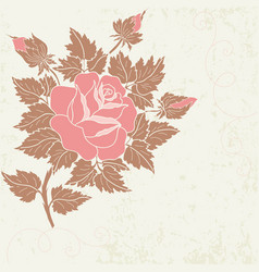 hand drawn decorative floral vector image