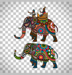 indian elephant transparent background vector image vector image