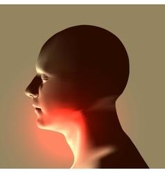 Laryngitis human throat vector
