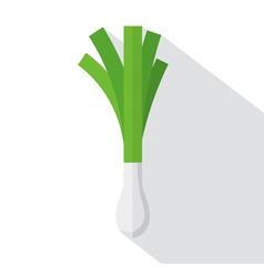 Leek Flat Design vector image vector image