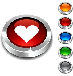 Love 3d button vector