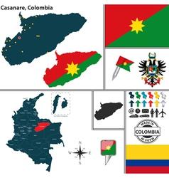 Map of casanare vector
