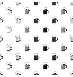 Mug of beer pattern simple style vector