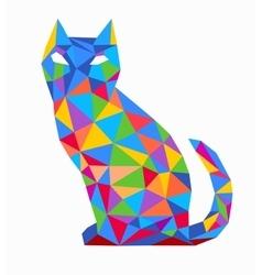 Print Polygonal cat vector image