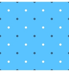 Seamless polka pattern vector image vector image