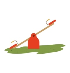 Seesaw playground design vector