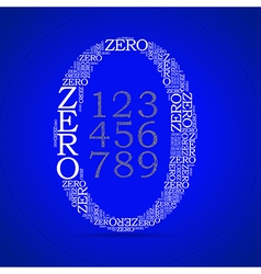 set of numbers vector image vector image