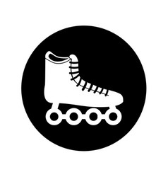 Skate wheels isolated icon vector