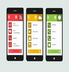 Smartphone material design 2 vector