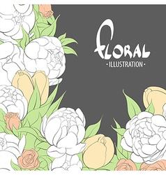 Summer delicate flowers vector