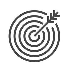 target thin line icon vector image