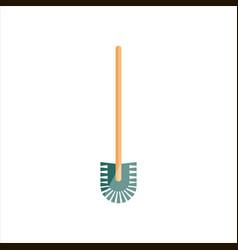 Toilet brush icon logo isolated on white vector