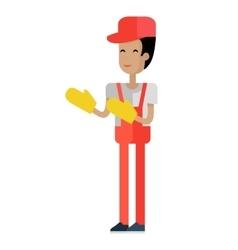 Worker in flat design vector