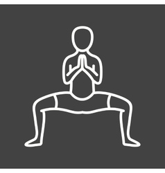 Buddhist pose vector