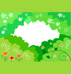 cartoon spring background vector image