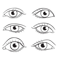 Eyes different shapes vector