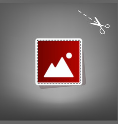 Image sign   red icon with for vector
