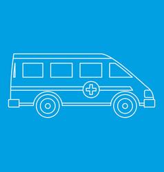 Ambulance emergency paramedic car icon vector