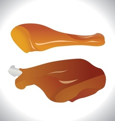 Roasted chicken legs vector