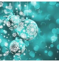 Christmas ball over glow light bokeh EPS 8 vector image