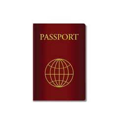 Red passport vector