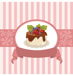 Card design with cupcake vector