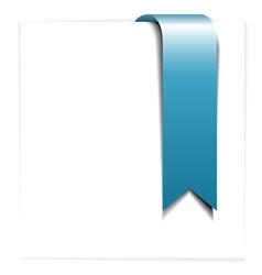 fresh blue ribbon vector image