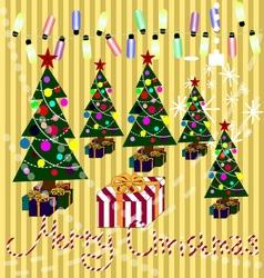 Merry Christmas 01 vector image