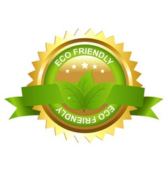 Eco friendly emblem vector