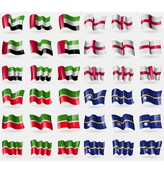 United arab emirates england tatarstan nauru set vector