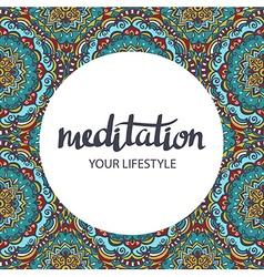 Mandala backgraund decorative template Hand drawn vector image