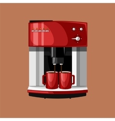 Coffee Machine and Cups vector image